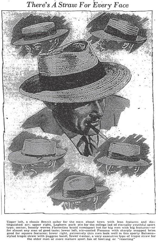 Men's Straw Hats (1939)