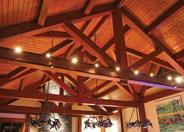 Red Deer Ranch Timber Frame Home Vaulted Ceiling Flickr