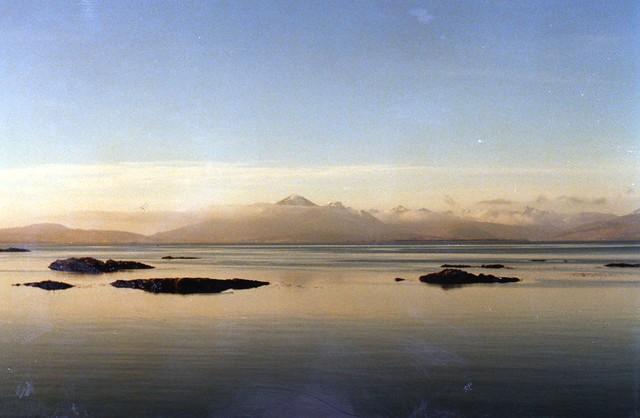 Looking across Loch Carron