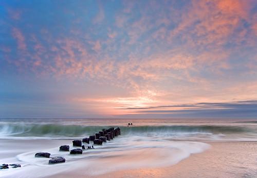 ocean sun seascape beach sunrise waves seascapes north northcarolina carolina rise carolinabeach