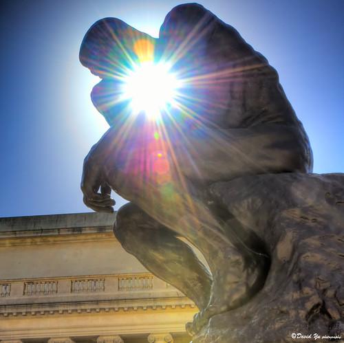 Thinker thinks about how to take sun burst shot | by davidyuweb