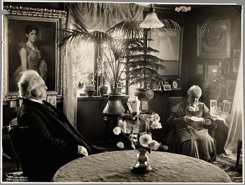 Karoline and Bjørnstjerne Bjørnson, 1908