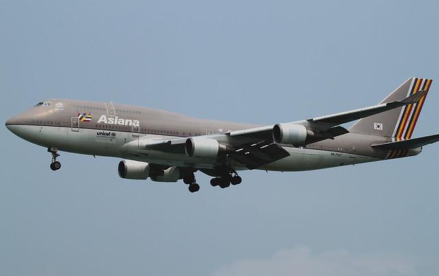 B747-48E/M | Asiana Airlines | HL7417 | HKG