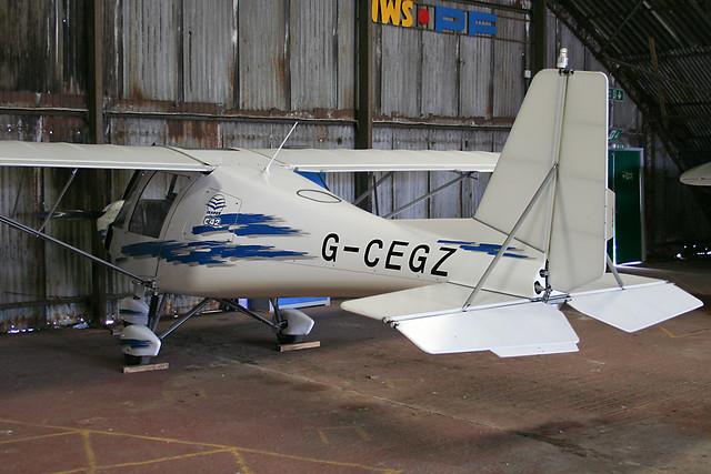 G-CEGZ - 2006 build Comco Ikarus FB80, hangared at Barton