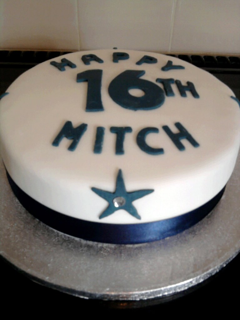 Sensational 16Th Birthday Cake The Thought Of Doing Teenage Boys Cakes Flickr Funny Birthday Cards Online Chimdamsfinfo