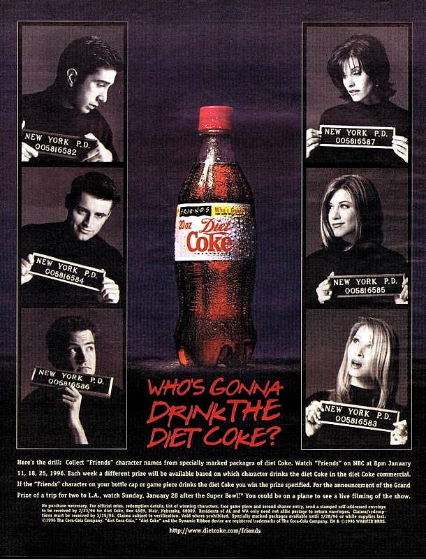 1996 Diet Coke Friends TV Show Actors ad | José Roitberg