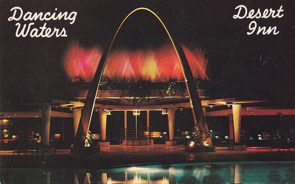 Dancing Waters of the Desert Inn Las Vegas | Back of postcar… | Flickr