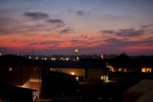 pink sunset skyline newyearseve 365 2009 bentonville purpledusk