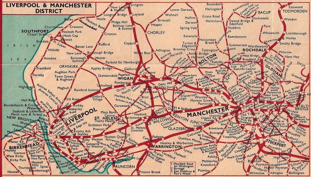 South London Areas Map.British Railways London Midland Region Rail Map Of Manc Flickr