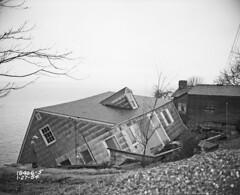 House damaged in Perkins Lane landslide, 1954 | by Seattle Municipal Archives
