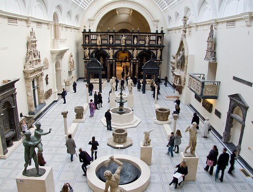 People and objects in space - new Medieval & Renaissance Gallery, V&A, London by chrisjohnbeckett