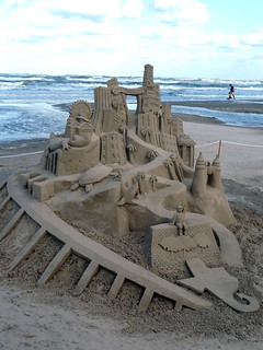 South Padre Island-themed sand sculpture | by sandyfeet