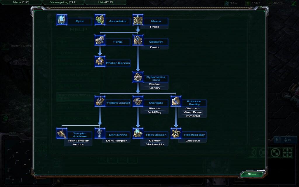 Starcraft 2 Beta - Protoss tech tree (as of 4/30/10) | Flickr