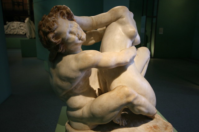 Satyr gets busy at Centrale Montemartini, Rome