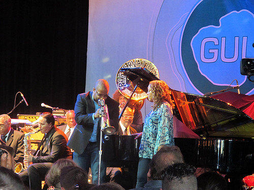 Two titans sit in with Preservation Hall Jazz Band on