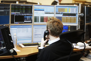 Trading room, NBIM | by Norges Bank