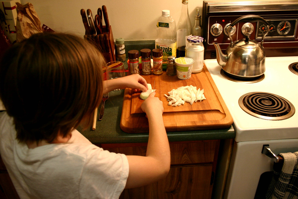 Cooking   G's cooking his first proper dinner, a chicken cur…   Flickr