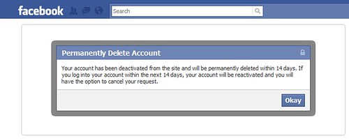 Facebook Account Permanently Deleted | by @netweb (Stephen Edgar)