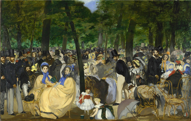 Édouard Manet:   Music in the Tuileries Gardens (1862)
