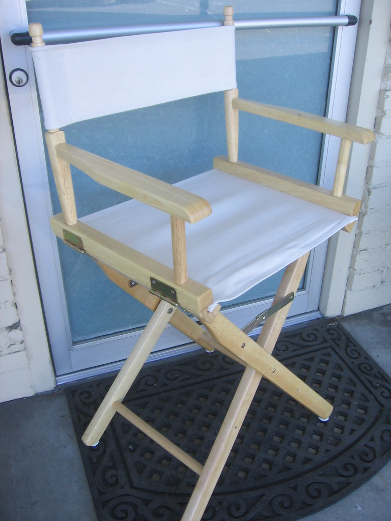 Awesome Sold Directors Chair 24 Inch Seat Height Hardwood And C Caraccident5 Cool Chair Designs And Ideas Caraccident5Info