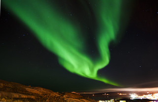 Aurora in Iqaluit | by Angela Scappatura