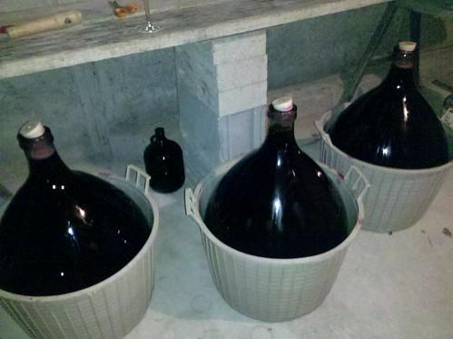 Umberto's homemade wine set-up | by jblyberg