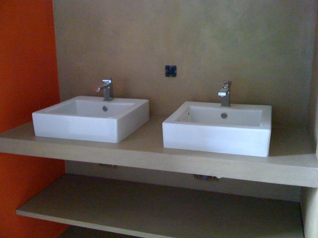 Meuble En Béton Ciré meuble lavabos salle de bain béton ciré | batife beton | flickr