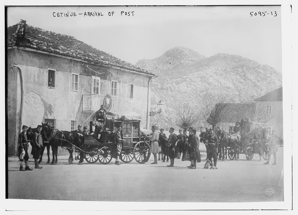 Cetinje -- arrival of post (LOC)