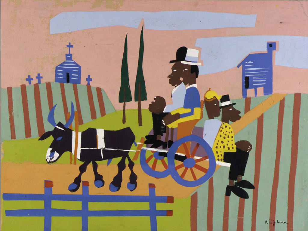Going to Church | Artist: William H  Johnson, born Florence