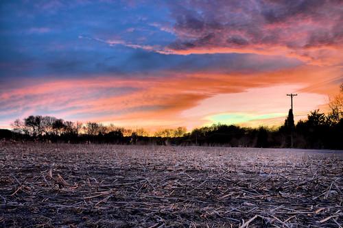 sunset sky field farm hdr perfectsunsetssunrisesandskys imagebydesignwroks