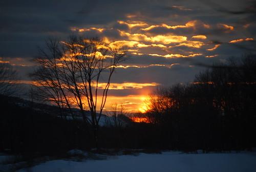 trees light sunset shadow red sky orange snow color nature colors pennsylvania bluemountain