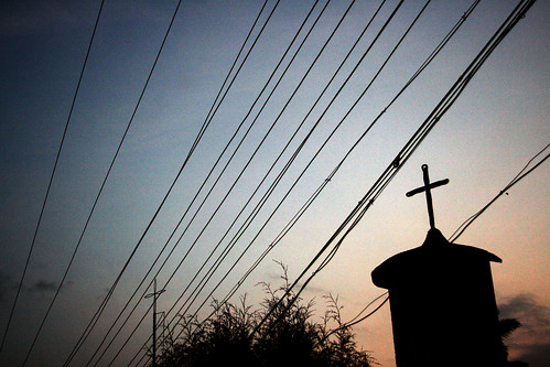 blue sunset wild sky sun india mountain mountains colour building church set night dark evening wire colours bright wildlife south atmosphere cable kerala holy cables wires 2009 reservation kumily djungle periya reservate kummily kumiley kummiley