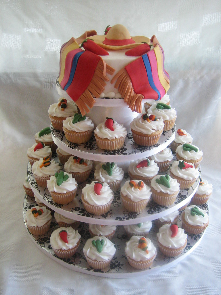 Mexican Themed Wedding Cake Cupcakes Mexican Themed Wedd
