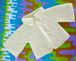 hexagon baby jacket | by sarah london textiles