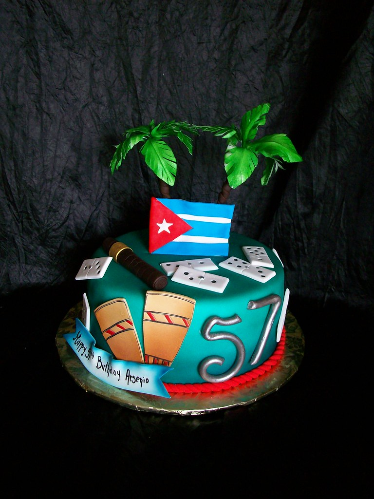 Wondrous Cuban Themed Birthday Cake Made This For A Sweet Lady Who Flickr Funny Birthday Cards Online Alyptdamsfinfo