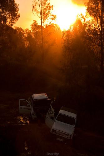 africa sunset red sky sun cars nature canon southafrica scenery 4x4 dusk vehicles suzuki pretoria automobiles recovery offroaders gauteng 450d canon450d hannessteyn eosdigitalrebelxsi canonefs18200mmf3556is mahemplayground