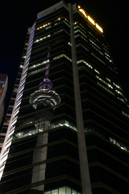 Auckland Sky Tower in ASB building
