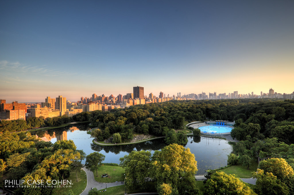 Sunset from 111 Central Park North by Philip Case Cohen