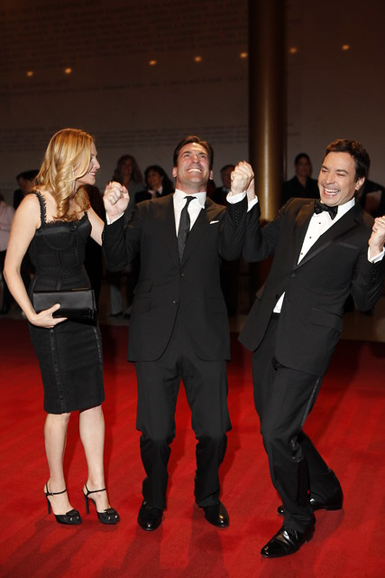 Jennifer Westfeldt, Jon Hamm and Jimmy Fallon