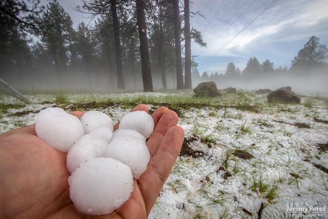 Hail at Parks, Arizona - I