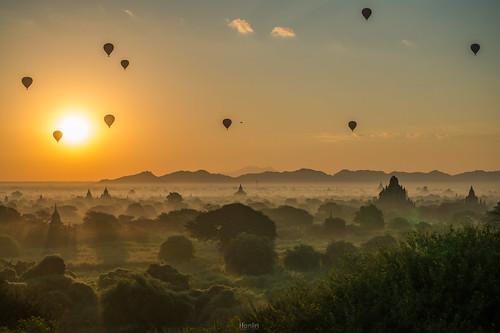Sunrise in Bagan | by tehhanlin