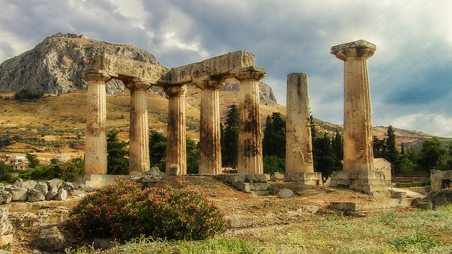 The Temple At Corinth.. Built In the 7th Century And Clearly Still Not Finished