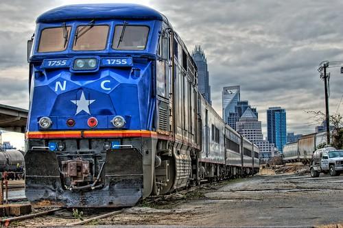 railroad train geotagged nc nikon charlotte accident northcarolina amtrak hdr topaz 1755 emd photomatix ncdot f59phi d80 topazadjust cityofsalisbury bigjohnsonphotoblogspotcom geo:lat=3524086 geo:lon=80822999