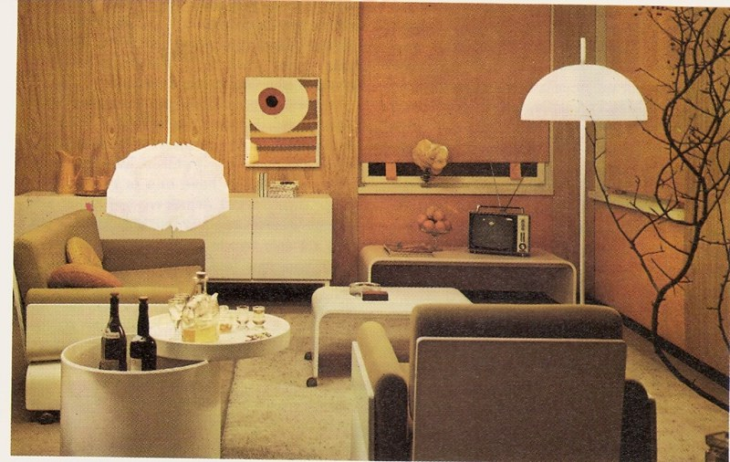 1970s Living Room From Golden Homes Magazine 1973 Glen