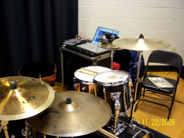church drum setup kj flickr. Black Bedroom Furniture Sets. Home Design Ideas