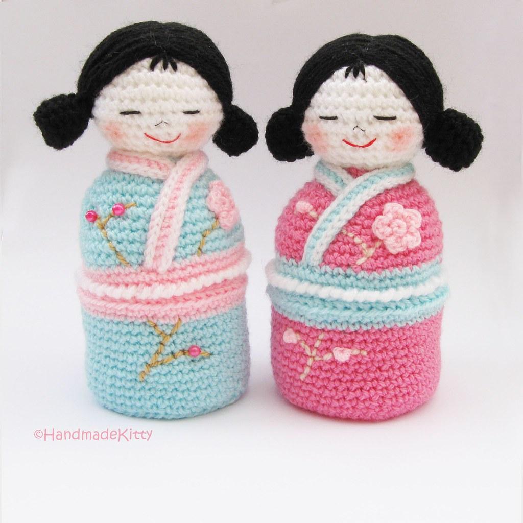 Amigurumi japanese doll Red Kimono by SuniMam on DeviantArt | 1024x1024