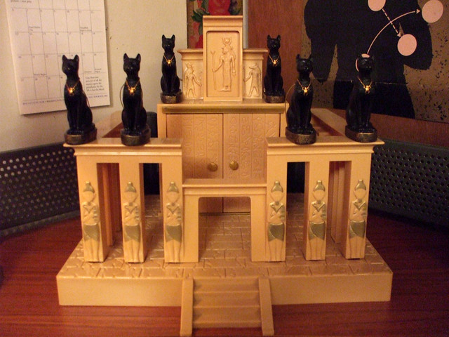 Butsudan | Here is a styrene Kemetic shrine with goddesses b… | Flickr
