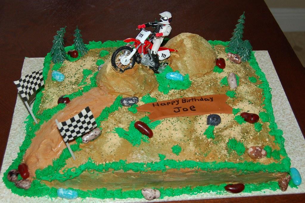 Fantastic Joes Birthday Cake Dirt Bike Cake Thanks For Looking Sweet Funny Birthday Cards Online Aboleapandamsfinfo