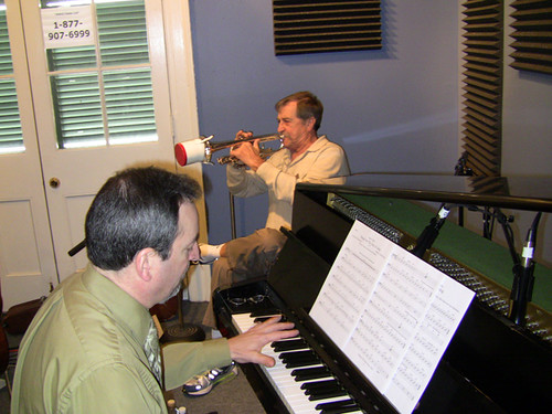 Connie Jones and David Boeddinghaus at WWOZ, March 2010
