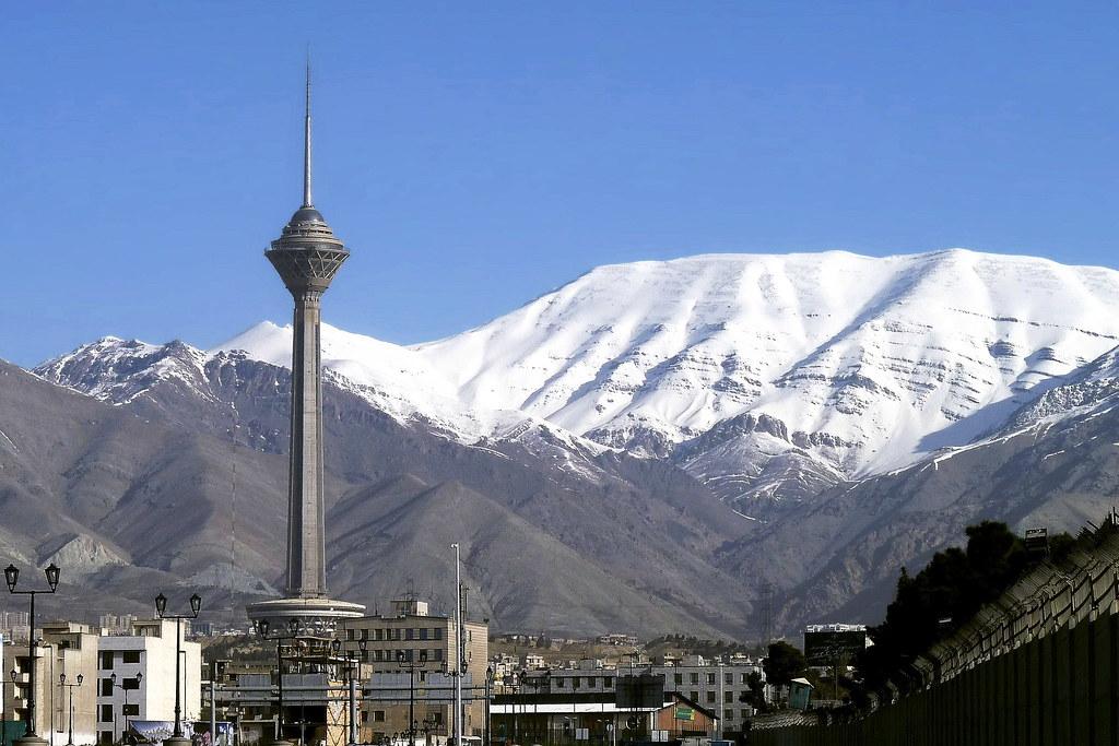 Image result for milad tower snow